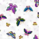 y2800-1m fjärilar, 110 cm bredd, 198:-/ m